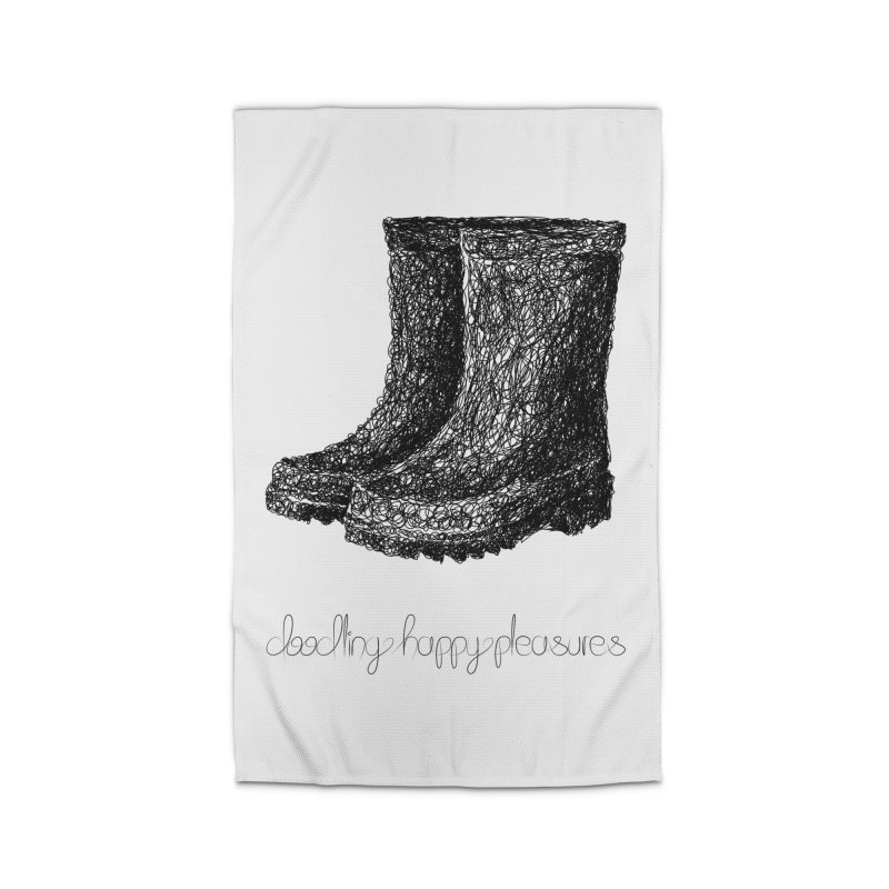 Rainboots Doodle Home Rug by BrocoliArtprint