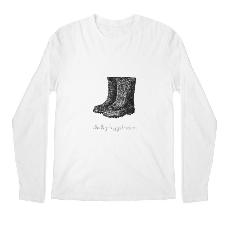 Rainboots Doodle Men's Longsleeve T-Shirt by BrocoliArtprint