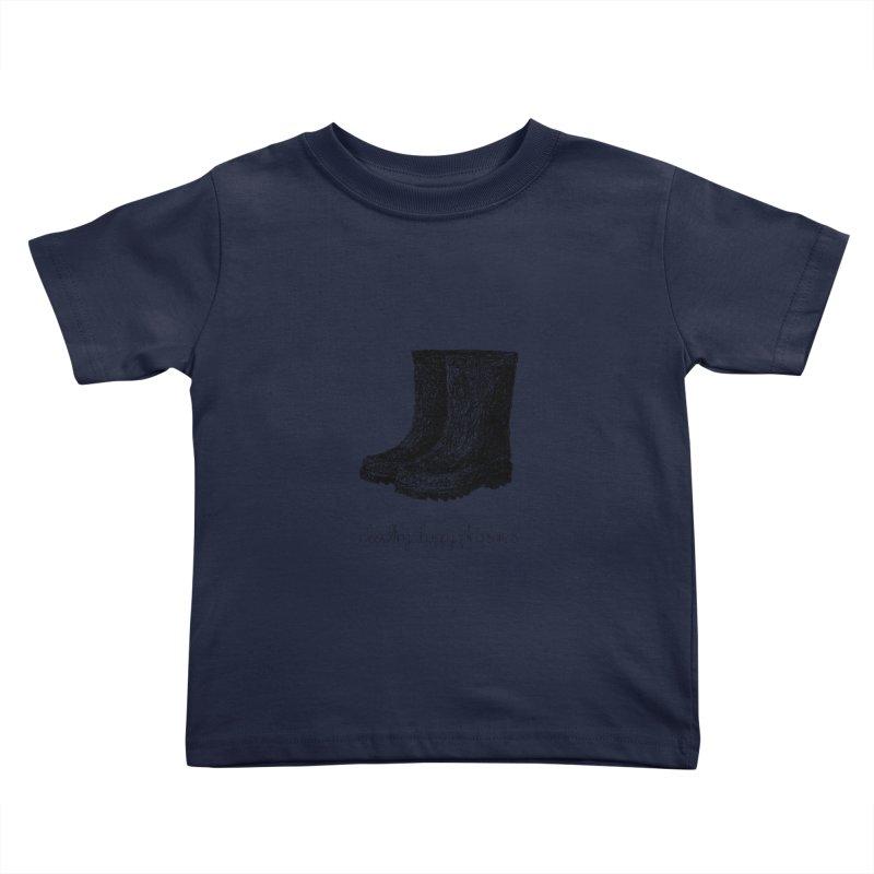 Rainboots Doodle Kids Toddler T-Shirt by BrocoliArtprint