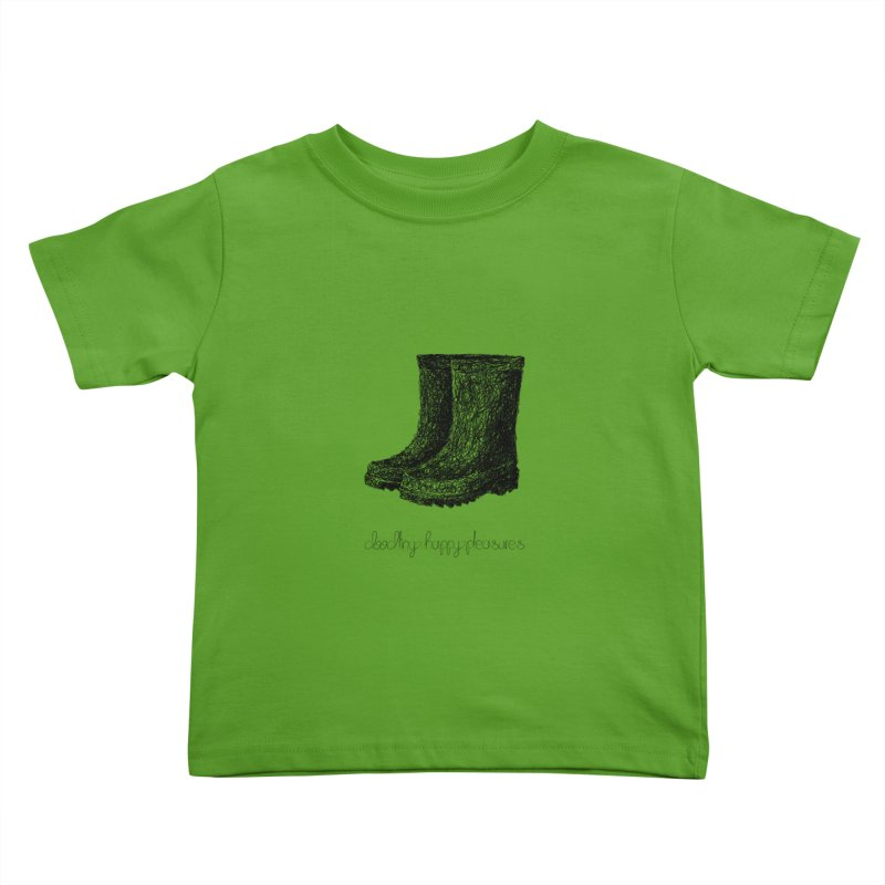 Rainboots Doodle Kids Toddler T-Shirt by BrocoliArtprint