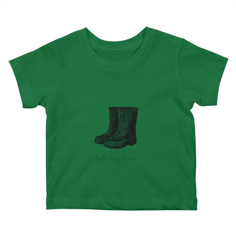 Rainboots Doodle Kids Baby T-Shirt by BrocoliArtprint