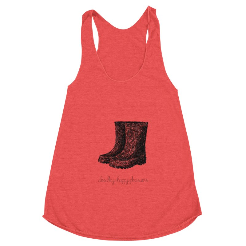 Rainboots Doodle Women's Tank by BrocoliArtprint