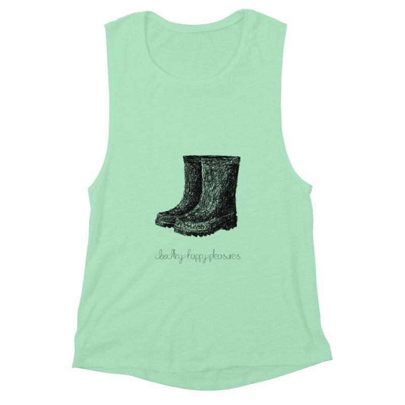 Rainboots Doodle Women's Tank by BrocoliArtprint
