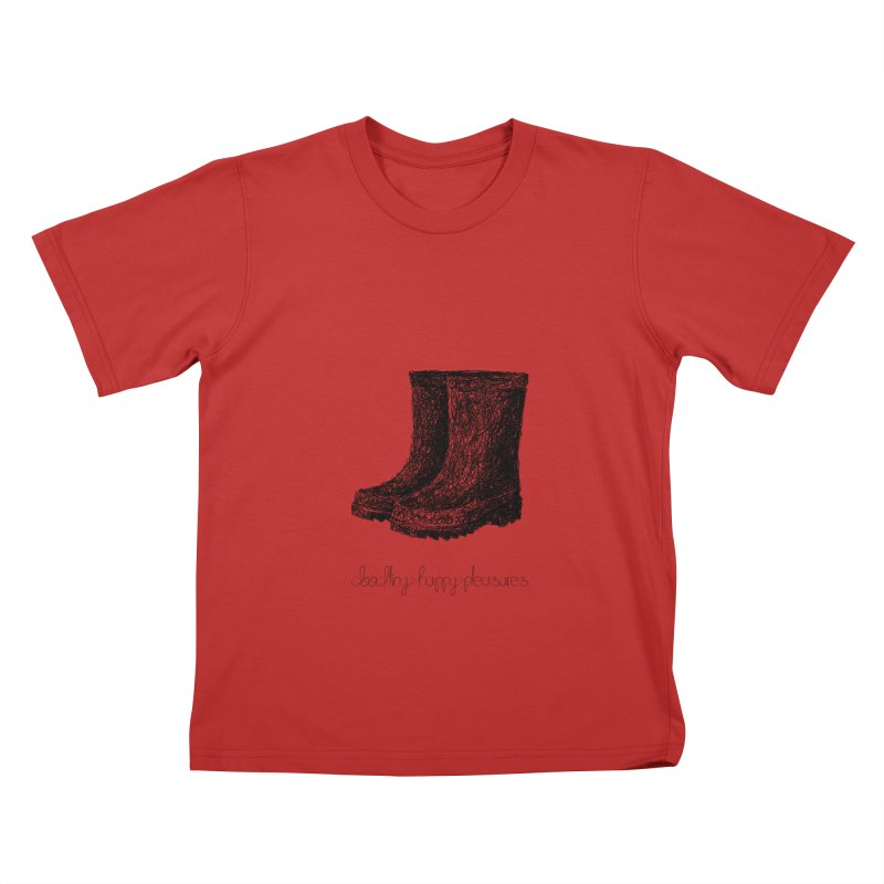 Rainboots Doodle Kids T-Shirt by BrocoliArtprint