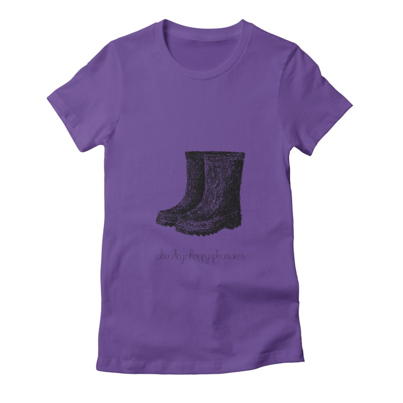 Rainboots Doodle Women's T-Shirt by BrocoliArtprint