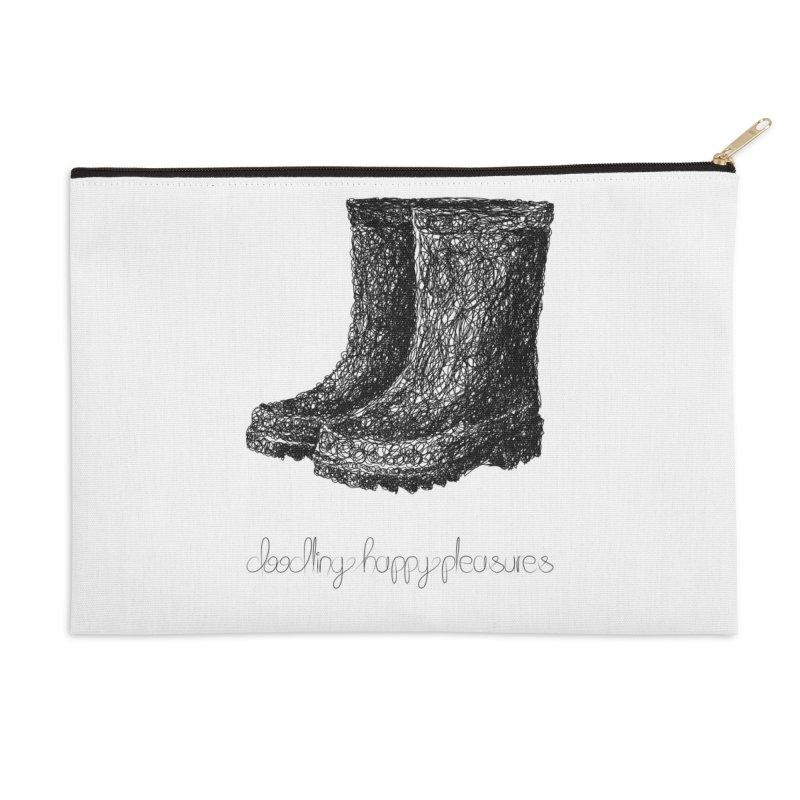 Rainboots Doodle Accessories Zip Pouch by BrocoliArtprint