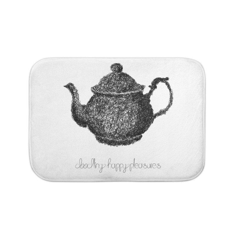 Teapot Doodle Home Bath Mat by BrocoliArtprint