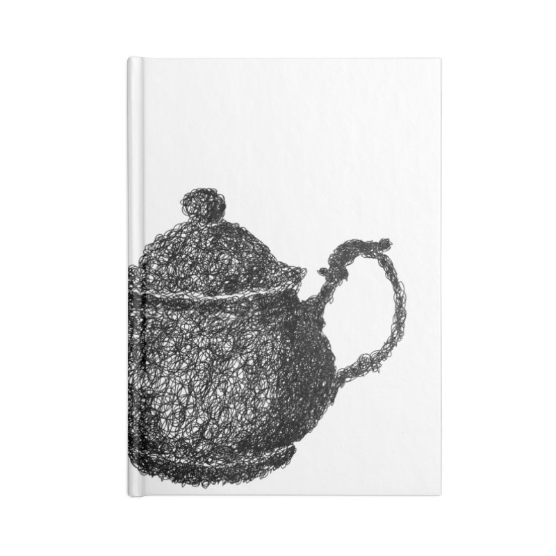 Teapot Doodle Accessories Notebook by BrocoliArtprint
