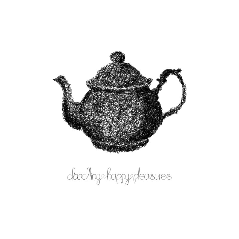 Teapot Doodle Women's V-Neck by BrocoliArtprint
