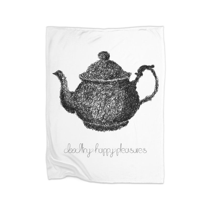 Teapot Doodle Home Blanket by BrocoliArtprint