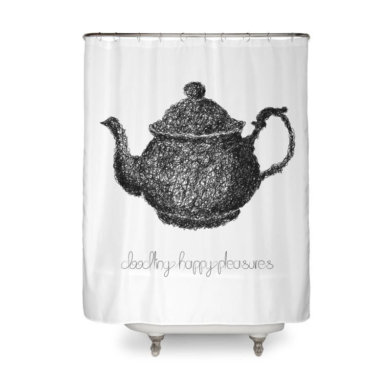 Teapot Doodle Home Shower Curtain by BrocoliArtprint