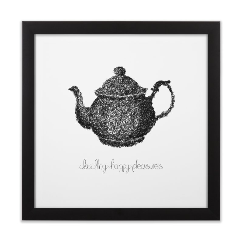 Teapot Doodle Home Framed Fine Art Print by BrocoliArtprint