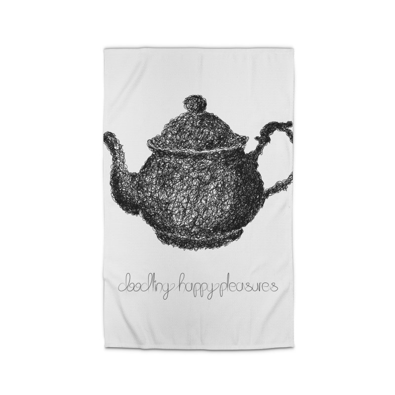 Teapot Doodle Home Rug by BrocoliArtprint