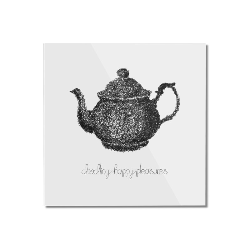 Teapot Doodle Home Mounted Acrylic Print by BrocoliArtprint