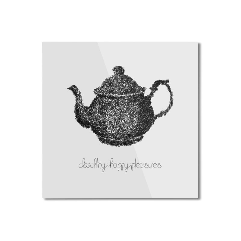 Teapot Doodle Home Mounted Aluminum Print by BrocoliArtprint