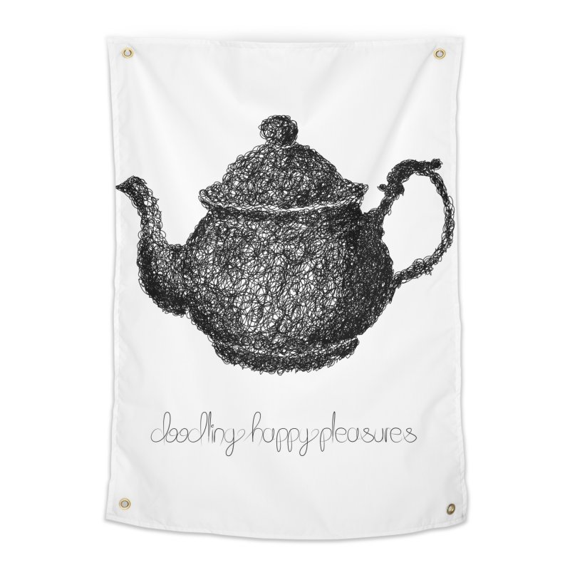 Teapot Doodle Home Tapestry by BrocoliArtprint