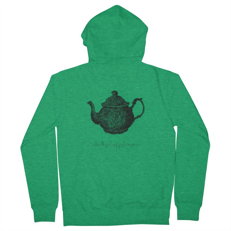 Teapot Doodle Women's Zip-Up Hoody by BrocoliArtprint