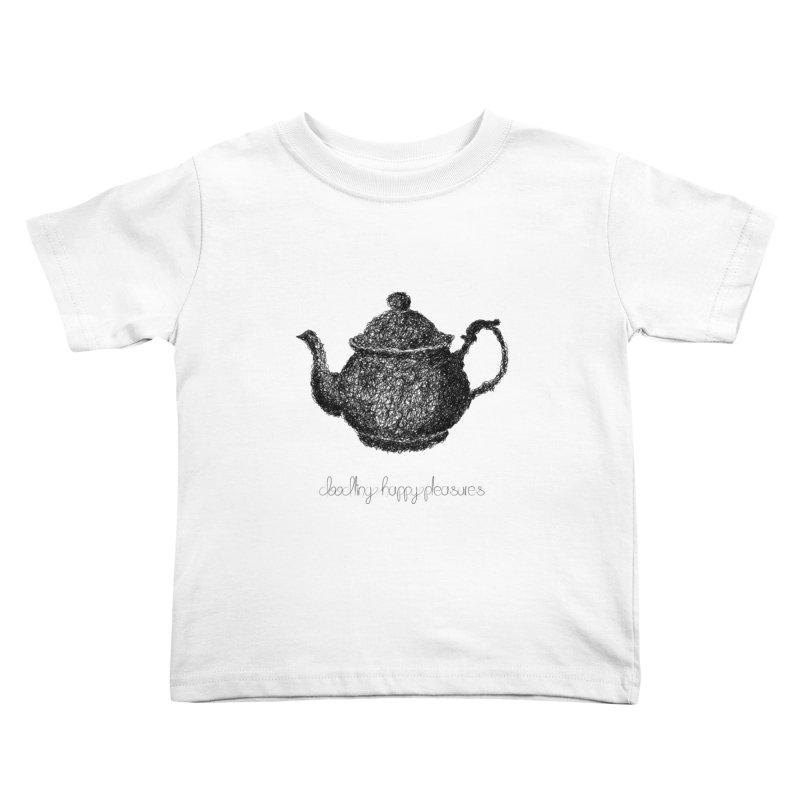 Teapot Doodle Kids Toddler T-Shirt by BrocoliArtprint