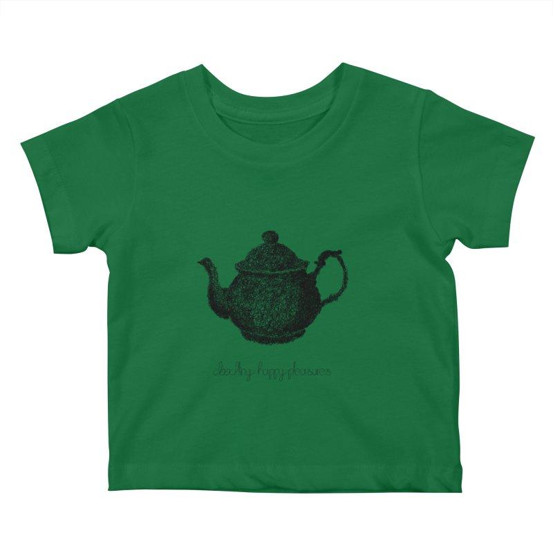 Teapot Doodle Kids Baby T-Shirt by BrocoliArtprint