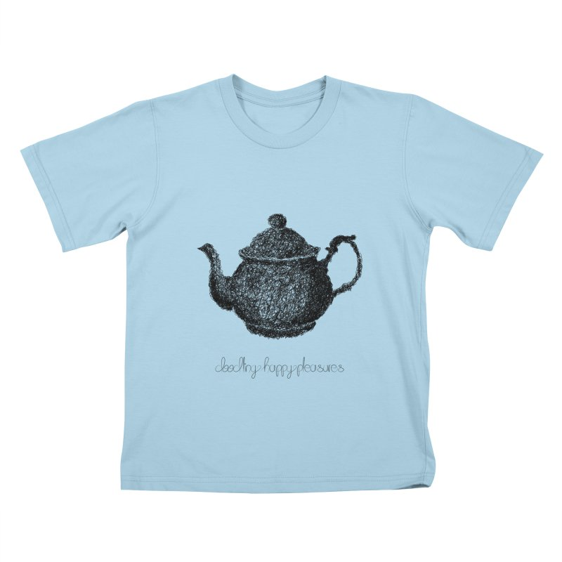 Teapot Doodle Kids T-Shirt by BrocoliArtprint
