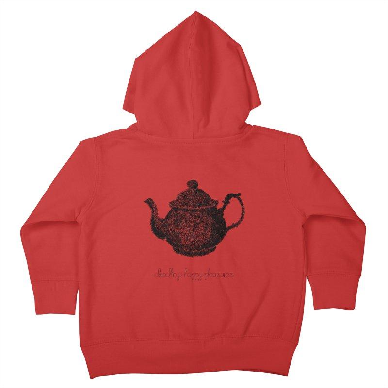 Teapot Doodle Kids Toddler Zip-Up Hoody by BrocoliArtprint