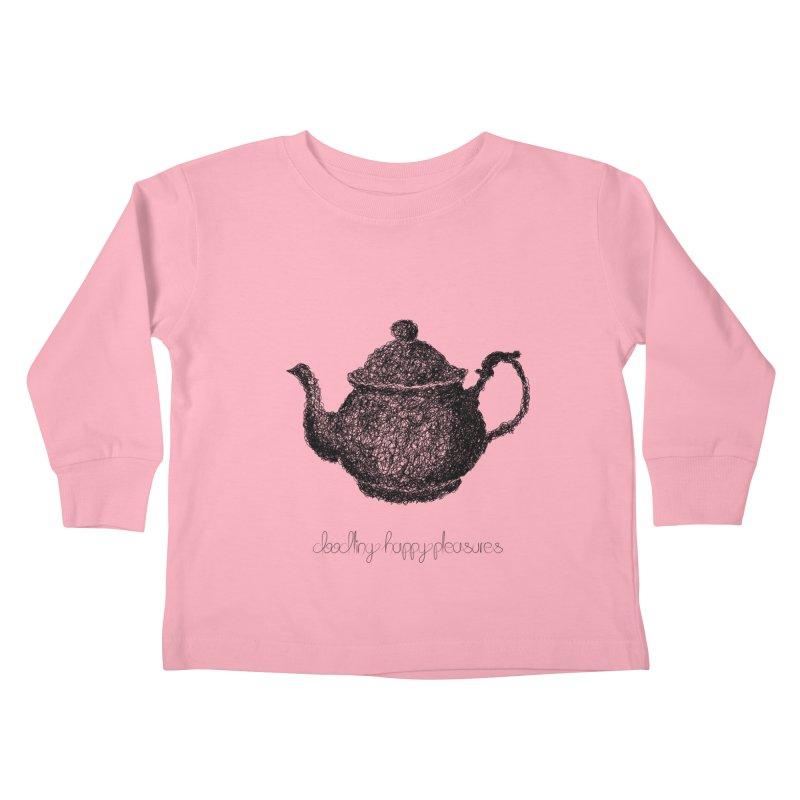 Teapot Doodle Kids Toddler Longsleeve T-Shirt by BrocoliArtprint