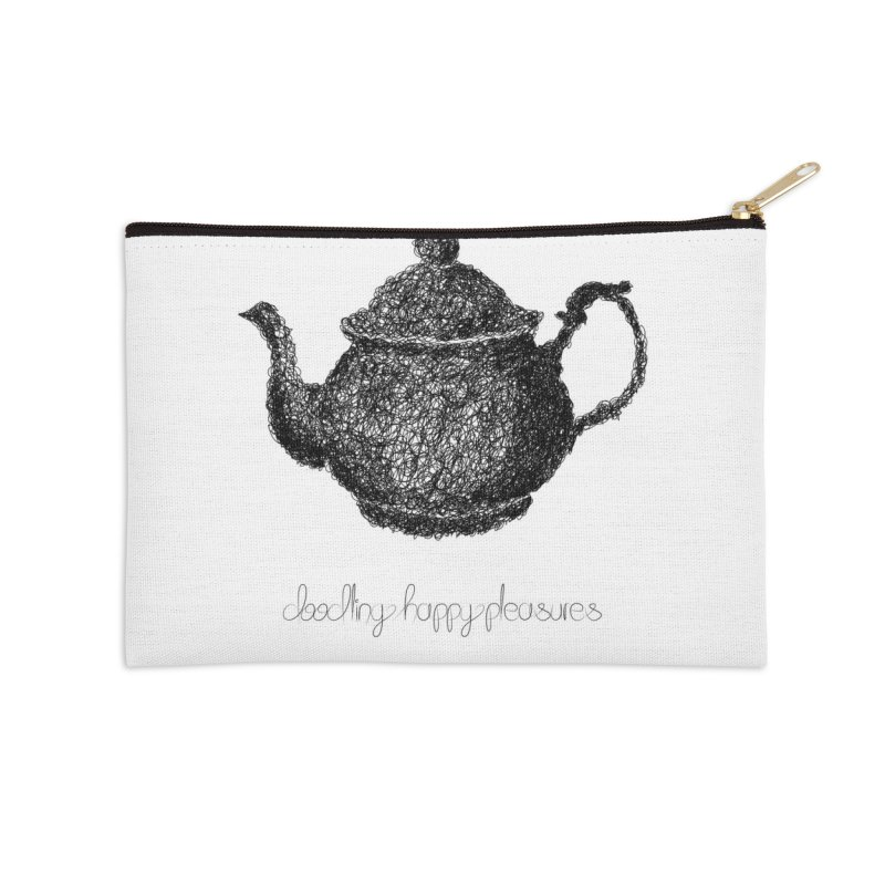 Teapot Doodle Accessories Zip Pouch by BrocoliArtprint