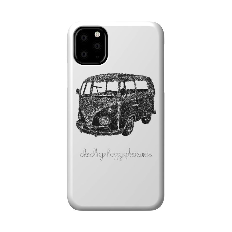 Hippie Retro Van Doodle Accessories Phone Case by BrocoliArtprint