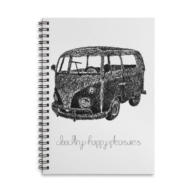 Hippie Retro Van Doodle Accessories Notebook by BrocoliArtprint
