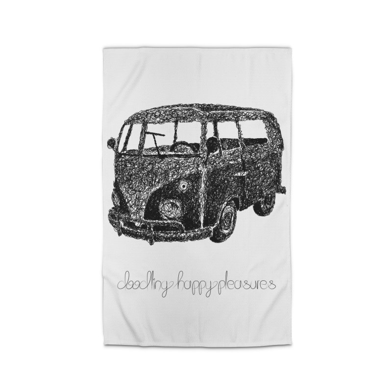 Hippie Retro Van Doodle Home Rug by BrocoliArtprint