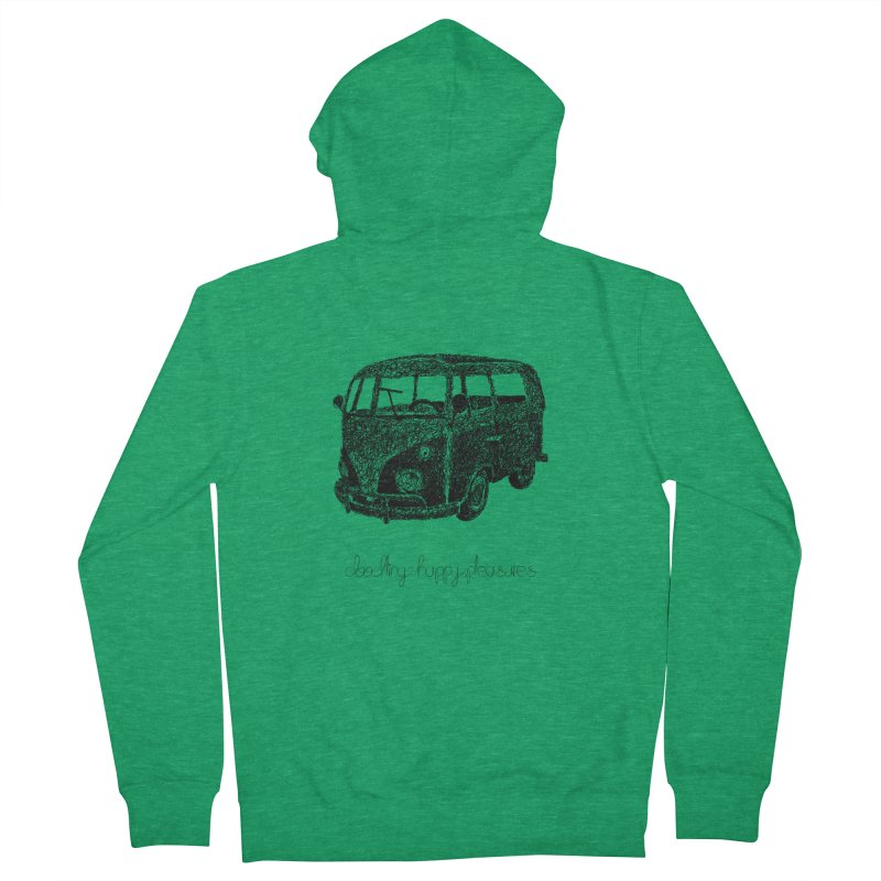 Hippie Retro Van Doodle Men's Zip-Up Hoody by BrocoliArtprint