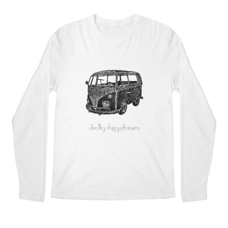 Hippie Retro Van Doodle Men's Longsleeve T-Shirt by BrocoliArtprint