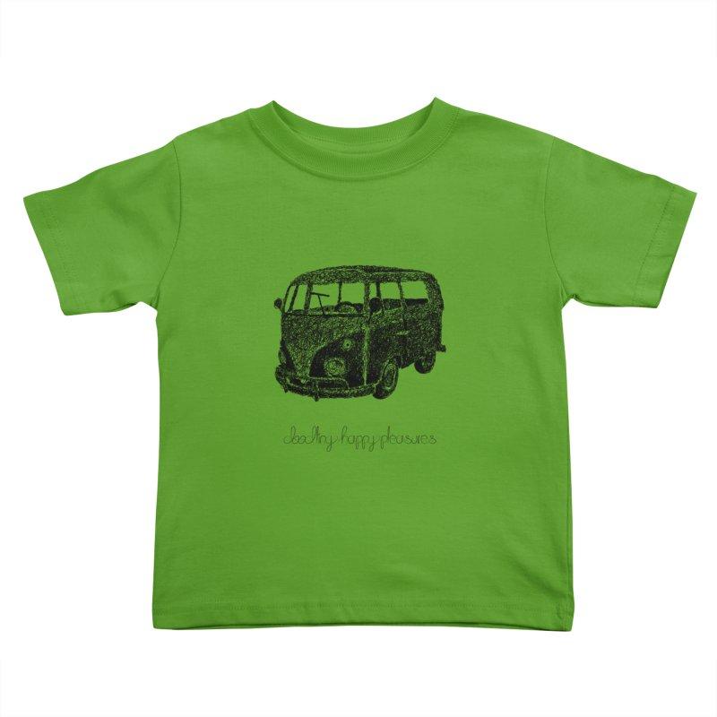 Hippie Retro Van Doodle Kids Toddler T-Shirt by BrocoliArtprint