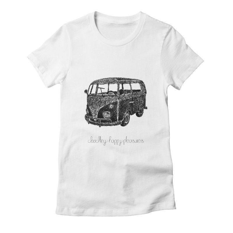 Hippie Retro Van Doodle Women's T-Shirt by BrocoliArtprint