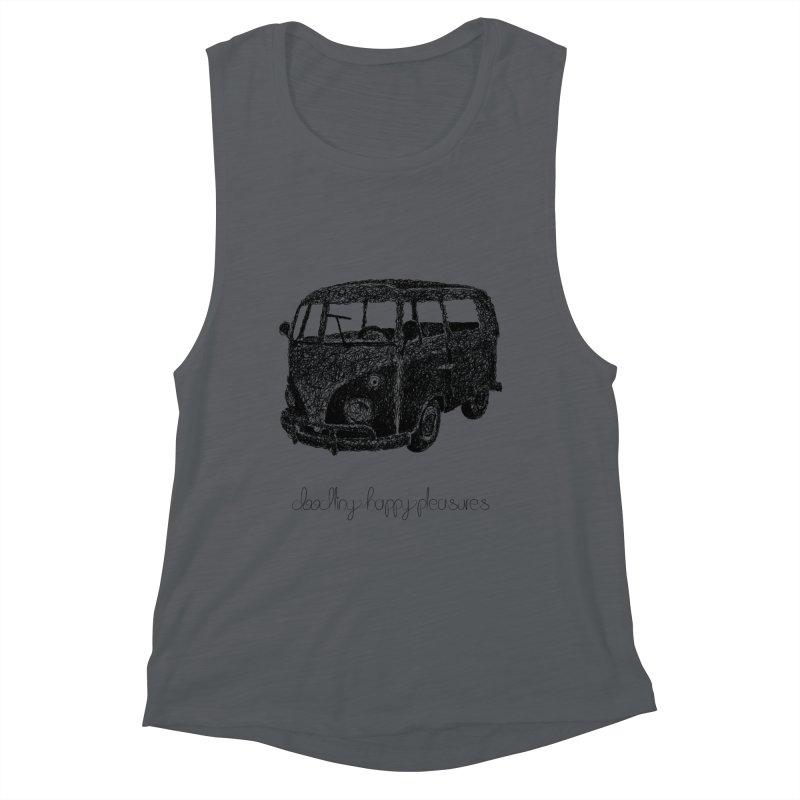 Hippie Retro Van Doodle Women's Tank by BrocoliArtprint