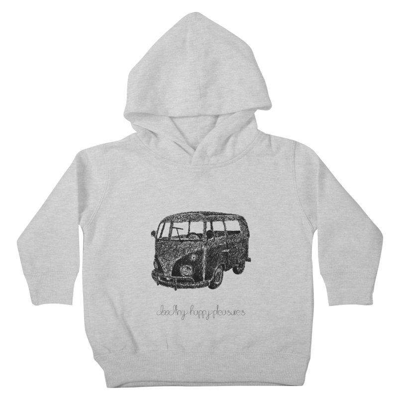 Hippie Retro Van Doodle Kids Toddler Pullover Hoody by BrocoliArtprint