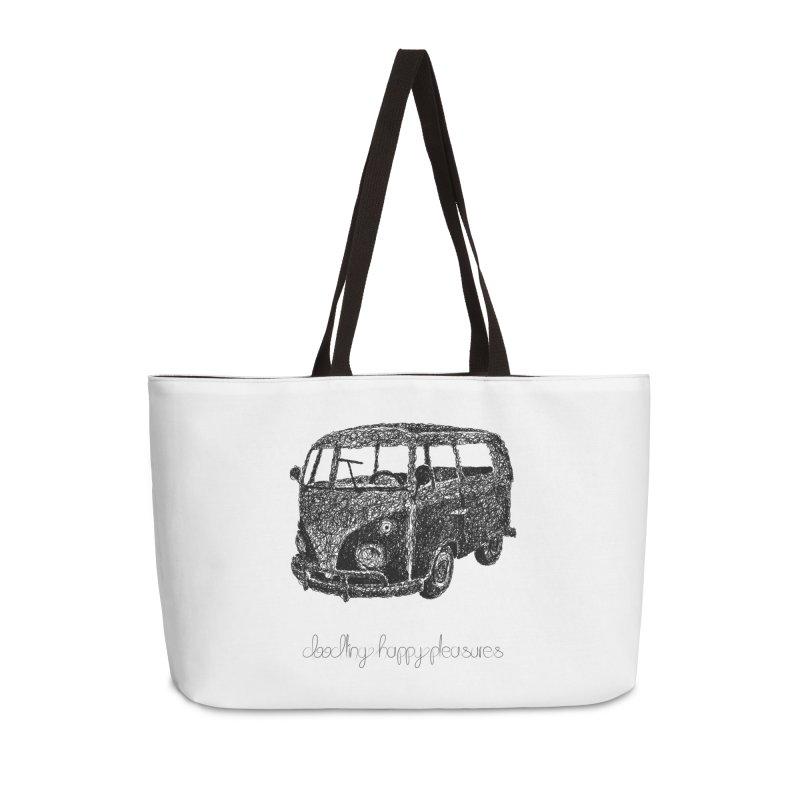 Hippie Retro Van Doodle Accessories Bag by BrocoliArtprint
