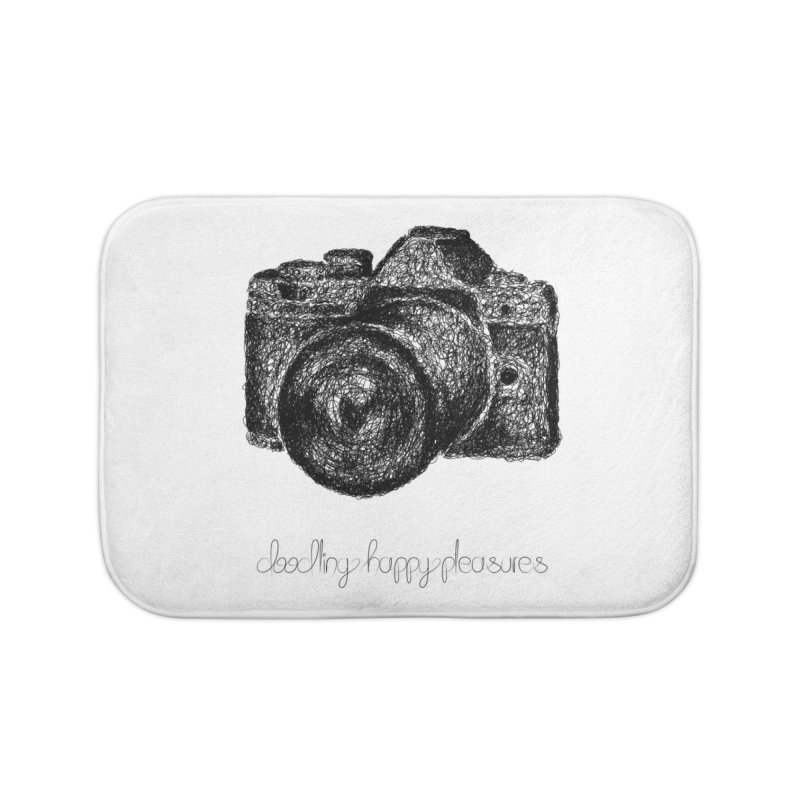 Photo Camera Doodle Home Bath Mat by BrocoliArtprint