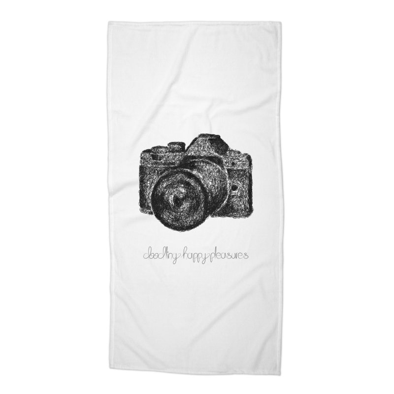 Photo Camera Doodle Accessories Beach Towel by BrocoliArtprint
