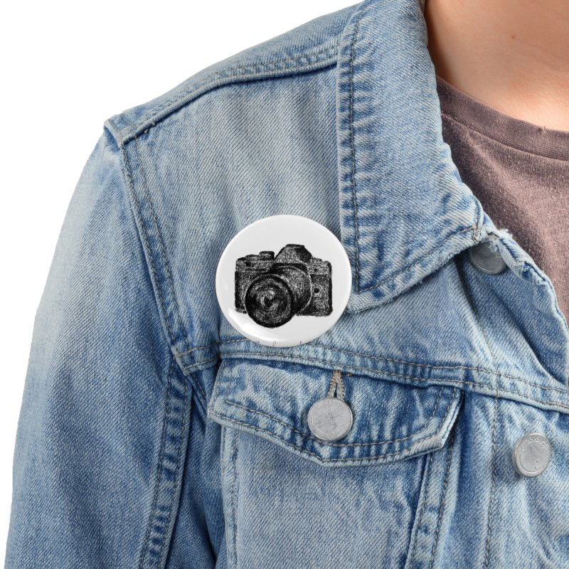 Photo Camera Doodle Accessories Button by BrocoliArtprint