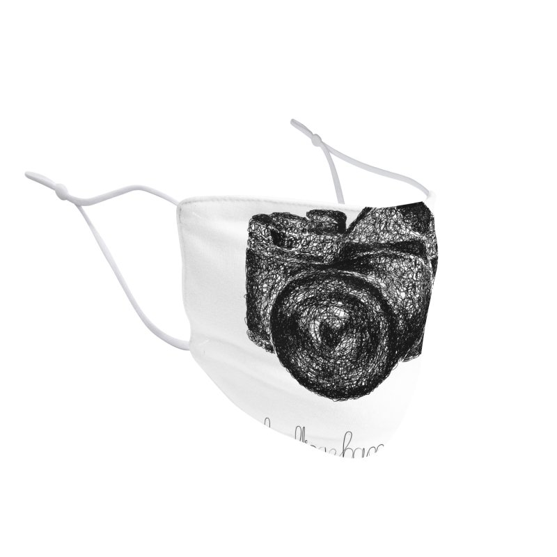 Photo Camera Doodle Accessories Face Mask by BrocoliArtprint