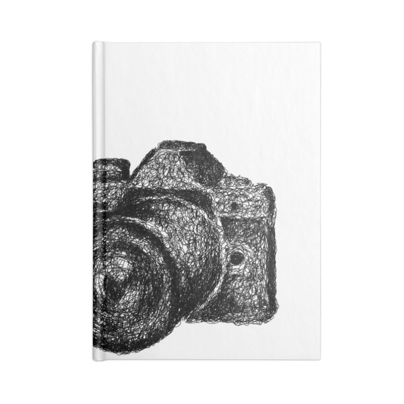 Photo Camera Doodle Accessories Notebook by BrocoliArtprint