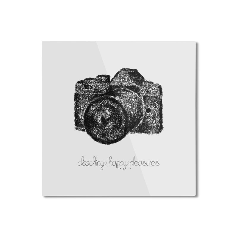 Photo Camera Doodle Home Mounted Aluminum Print by BrocoliArtprint
