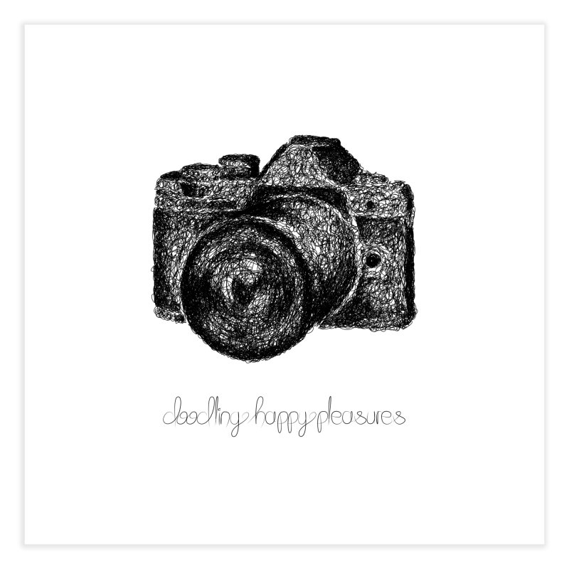 Photo Camera Doodle Home Fine Art Print by BrocoliArtprint
