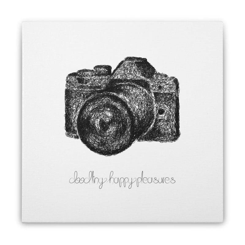 Photo Camera Doodle Home Stretched Canvas by BrocoliArtprint