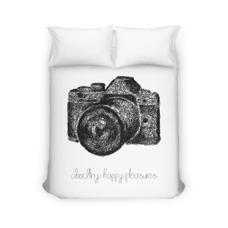 Photo Camera Doodle Home Duvet by BrocoliArtprint