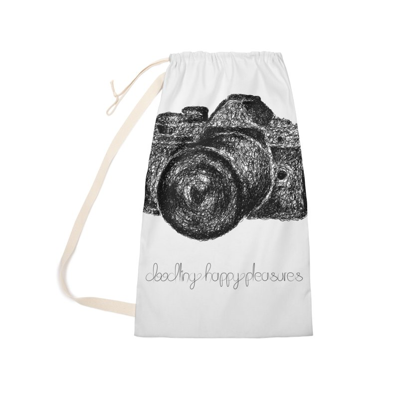 Photo Camera Doodle Accessories Bag by BrocoliArtprint