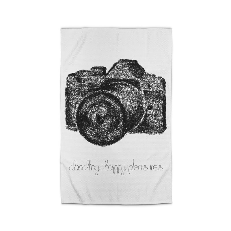 Photo Camera Doodle Home Rug by BrocoliArtprint