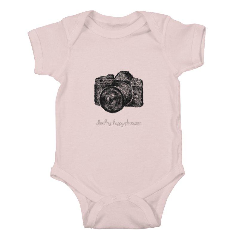 Photo Camera Doodle Kids Baby Bodysuit by BrocoliArtprint