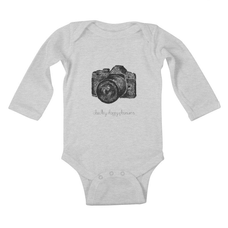 Photo Camera Doodle Kids Baby Longsleeve Bodysuit by BrocoliArtprint